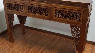 バリ家具 飾り棚 コンソール